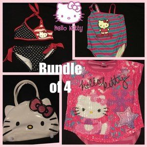 Bundle 4 Hello Kitty Swimsuits Purse 4th of July